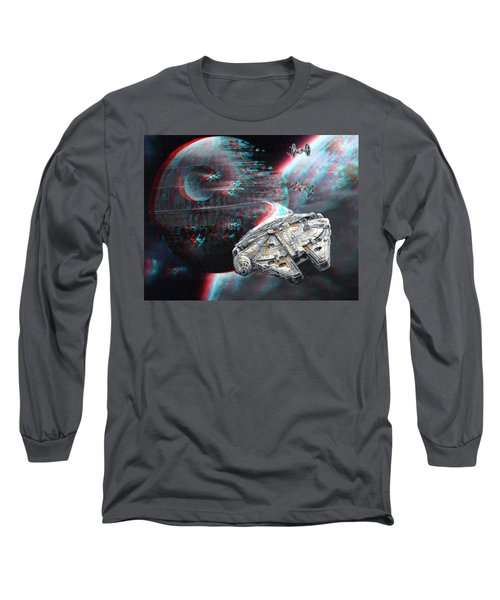 Star Wars 3d Millennium Falcon Long Sleeve T-Shirt