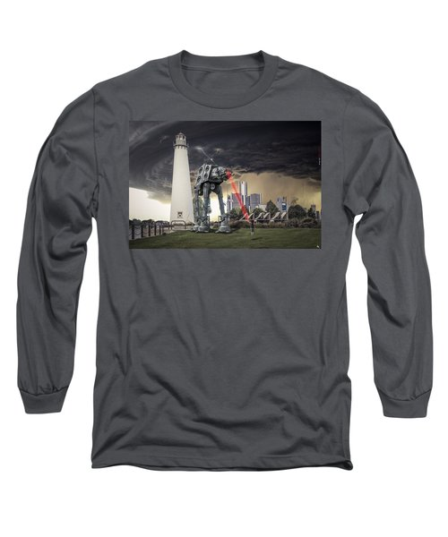 Long Sleeve T-Shirt featuring the photograph Star Wars All Terrain Armored Transport by Nicholas  Grunas