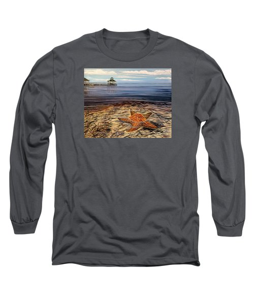 Starfish Drifting Long Sleeve T-Shirt by Marilyn  McNish