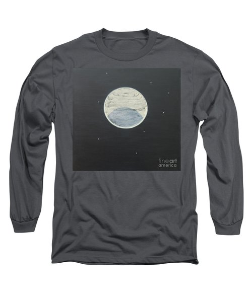 Long Sleeve T-Shirt featuring the painting Starlight by Mini Arora