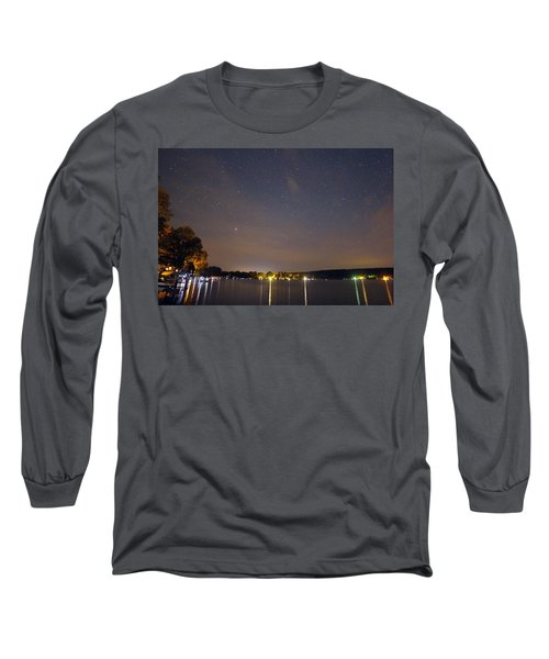 Stars Over Conesus Long Sleeve T-Shirt by Richard Engelbrecht