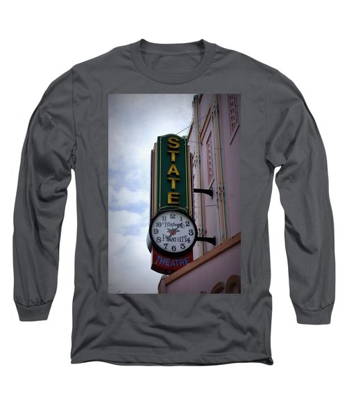 State Theatre Sign Long Sleeve T-Shirt by Laurie Perry
