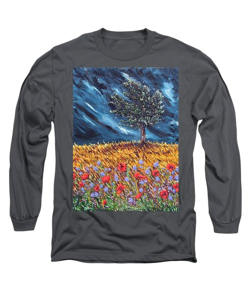 Long Sleeve T-Shirt featuring the painting Steadfast Love by Meaghan Troup