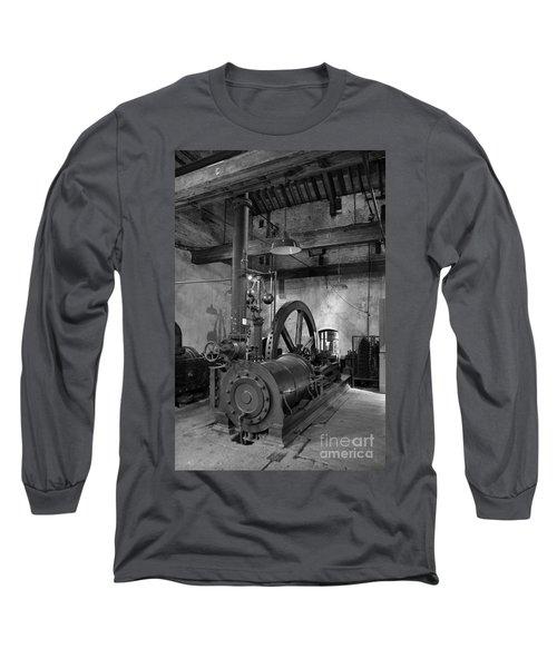 Steam Engine At Locke's Distillery Long Sleeve T-Shirt