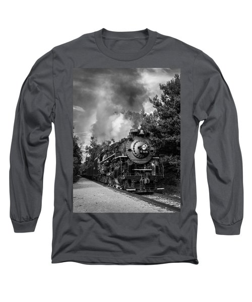 Steam On The Rails Long Sleeve T-Shirt