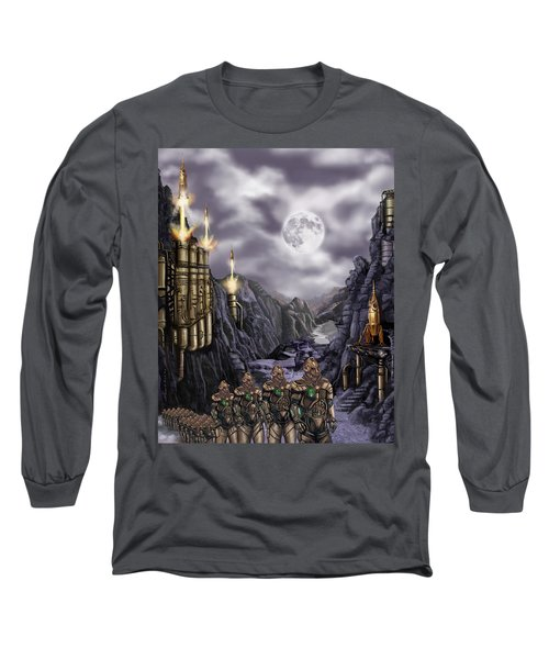 Steampunk Moon Invasion Long Sleeve T-Shirt