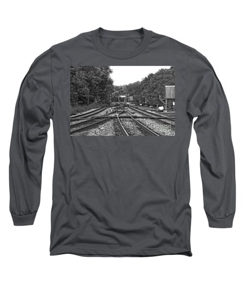 Steel Rail Intersections.   Point Of Rocks Md Long Sleeve T-Shirt