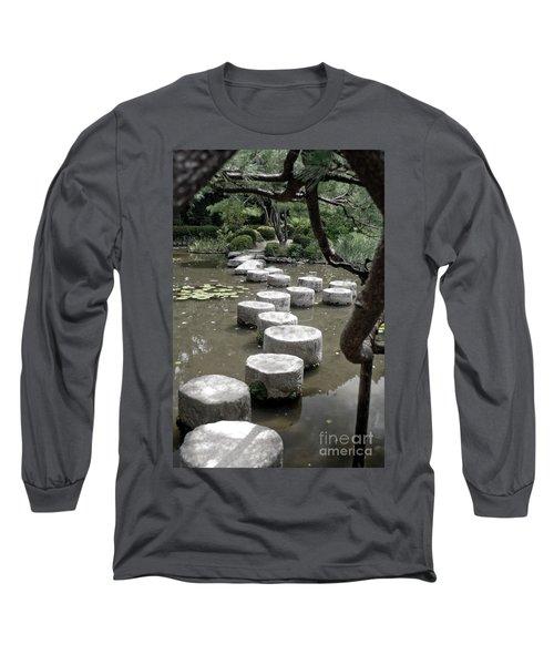 Stepping Stone Kyoto Japan Long Sleeve T-Shirt
