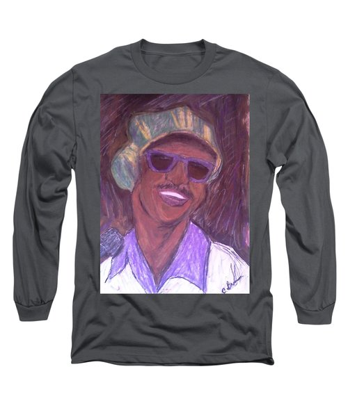 Stevie Wonder 2 Long Sleeve T-Shirt by Christy Saunders Church