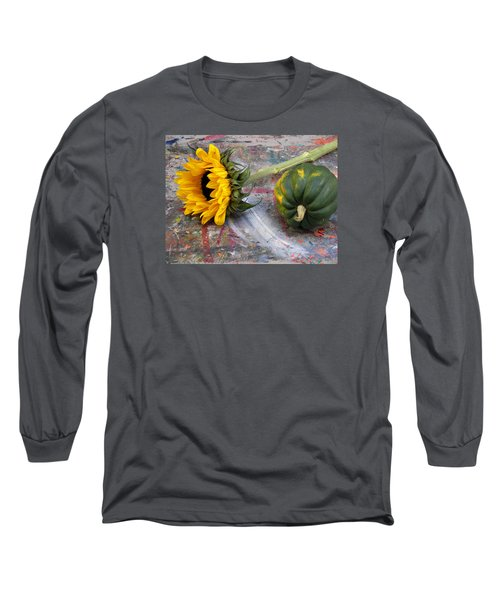 Still Life With Sunflower Long Sleeve T-Shirt