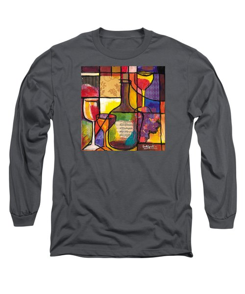Still Life With Wine And Fruit Long Sleeve T-Shirt