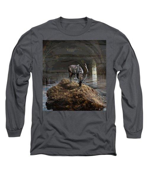 Stillness Long Sleeve T-Shirt by Yvonne Wright