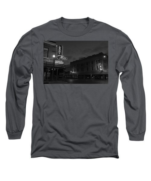 Stockyards Main And Exchange Bw Long Sleeve T-Shirt
