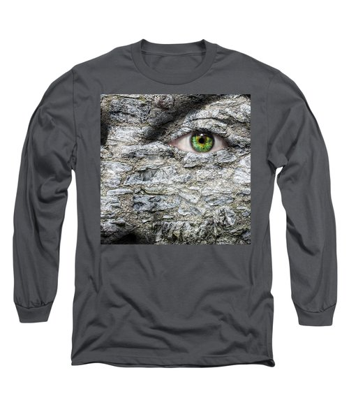 Stone Face Long Sleeve T-Shirt by Semmick Photo