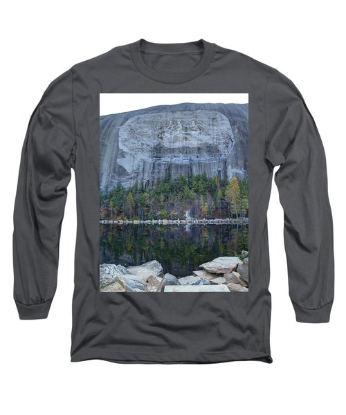 Stone Mountain - 2 Long Sleeve T-Shirt by Charles Hite