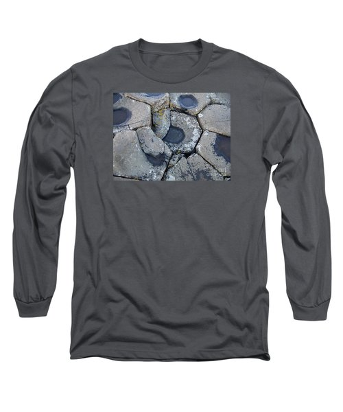 Stones On Giant's Causeway Long Sleeve T-Shirt