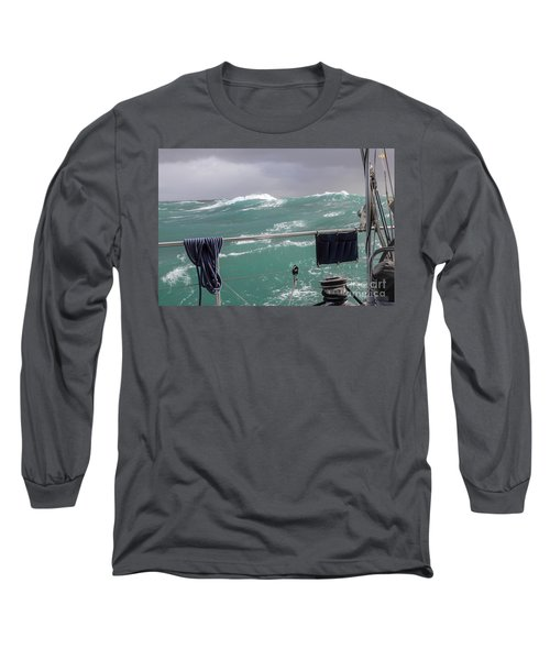 Storm On Tasman Sea Long Sleeve T-Shirt