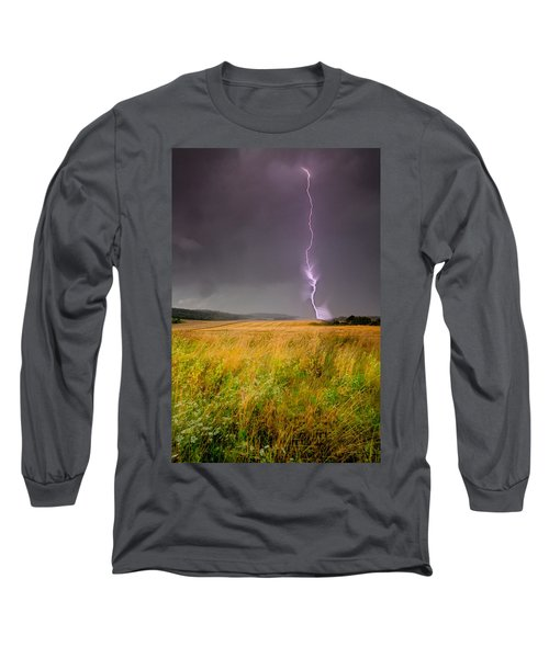 Storm Over The Wheat Fields Long Sleeve T-Shirt