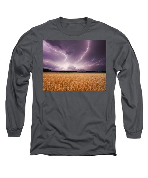 Storm Over Wheat Long Sleeve T-Shirt