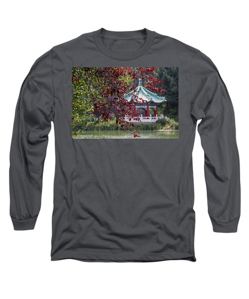 Long Sleeve T-Shirt featuring the photograph Stow Lake Pavilion by Kate Brown