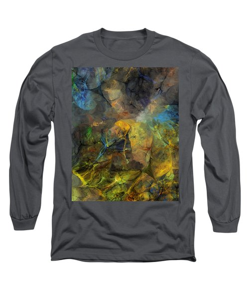 Stream Bed On A Sunny Day Long Sleeve T-Shirt