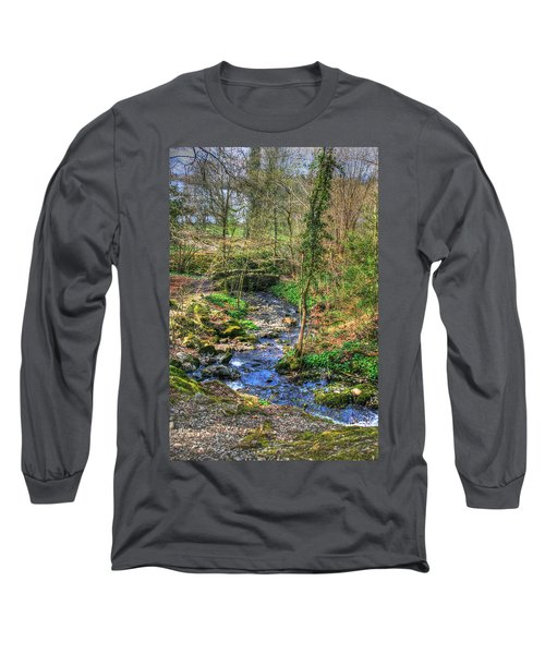 Long Sleeve T-Shirt featuring the photograph Stream In Wales by Doc Braham
