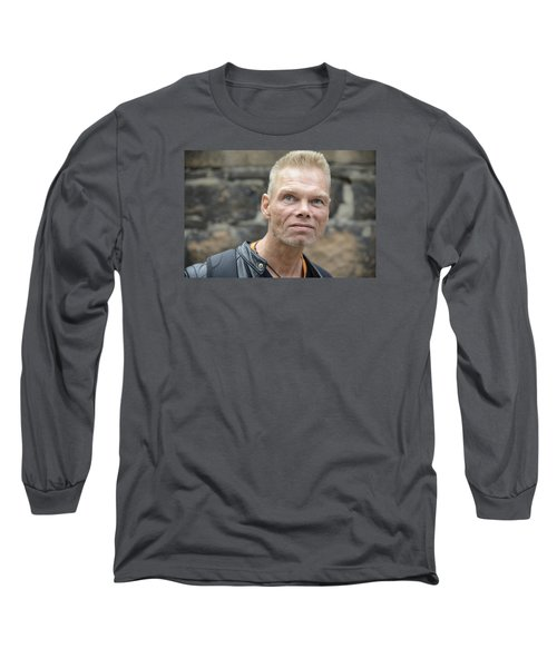 Long Sleeve T-Shirt featuring the photograph Street People - A Touch Of Humanity 3 by Teo SITCHET-KANDA