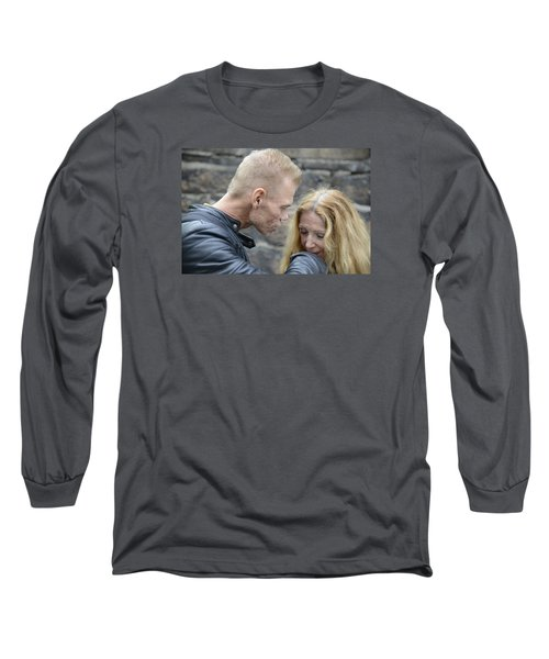 Long Sleeve T-Shirt featuring the photograph Street People - A Touch Of Humanity 4 by Teo SITCHET-KANDA