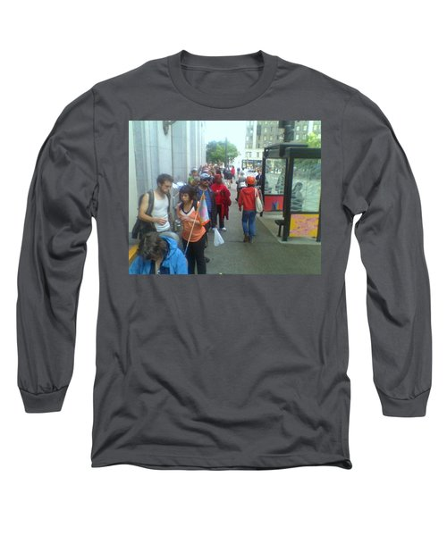 Street Scene Long Sleeve T-Shirt by David Trotter