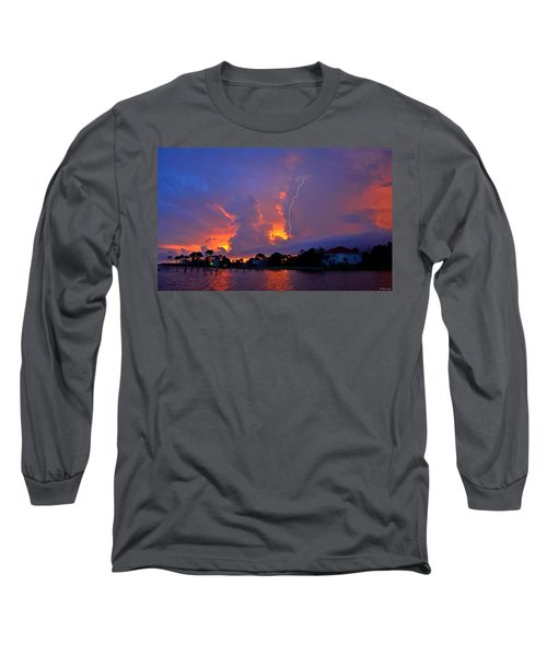 Long Sleeve T-Shirt featuring the photograph Strike Up The Middle At Sunset by Jeff at JSJ Photography