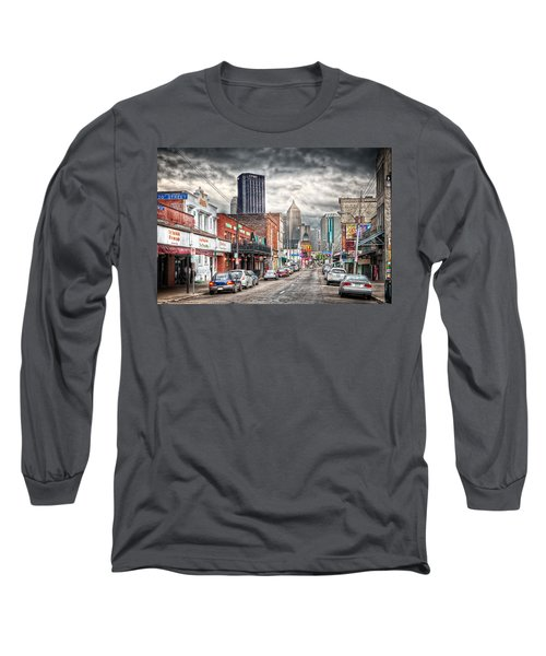 Strip District Pittsburgh Long Sleeve T-Shirt by Emmanuel Panagiotakis