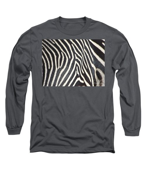 Stripes And Ripples Long Sleeve T-Shirt by Kathy McClure