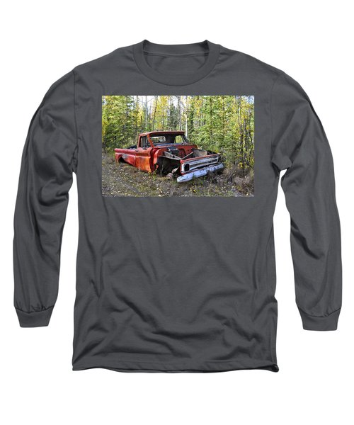 Long Sleeve T-Shirt featuring the photograph Stripped Chevy by Cathy Mahnke
