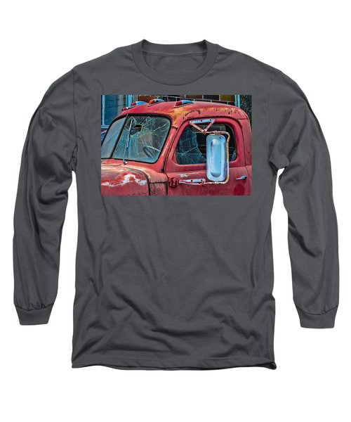Long Sleeve T-Shirt featuring the photograph Strong City Red by Steven Bateson