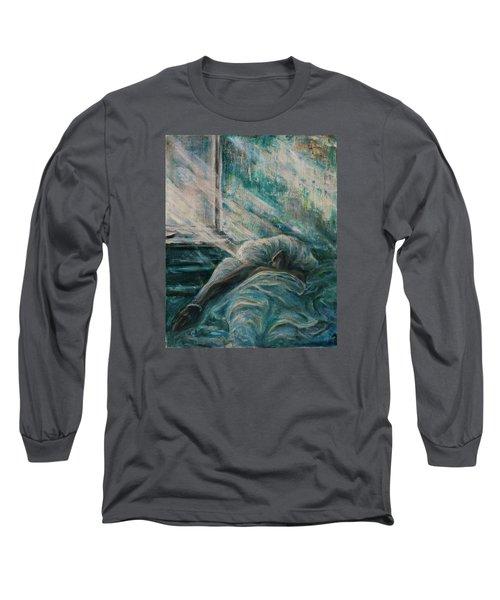 Struggling... Long Sleeve T-Shirt by Xueling Zou