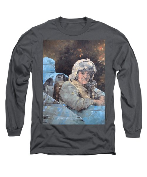 Study For Donald Campbell Oil On Canvas Long Sleeve T-Shirt