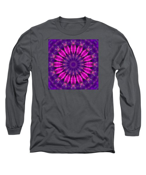 Long Sleeve T-Shirt featuring the photograph Study In Pink And Purple by I'ina Van Lawick