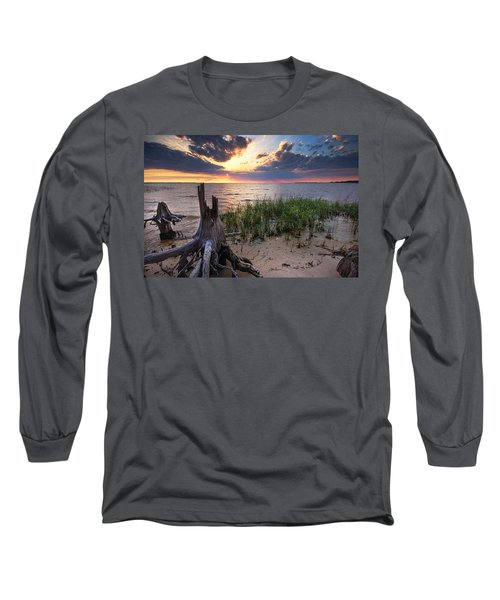 Stumps And Sunset On Oyster Bay Long Sleeve T-Shirt