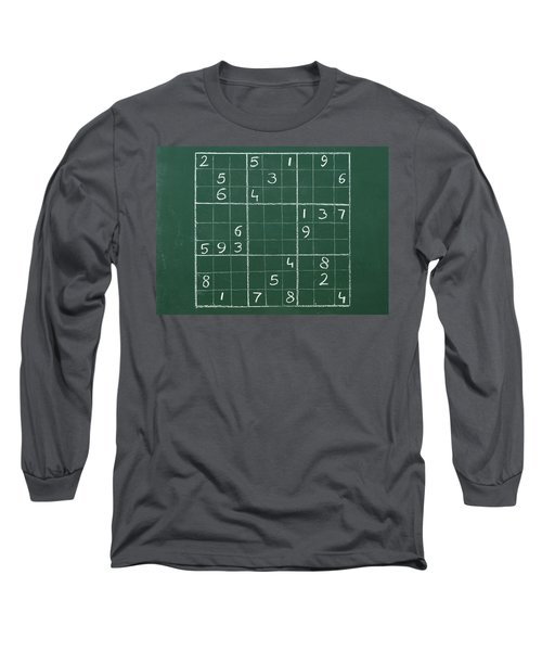 Sudoku On A Chalkboard Long Sleeve T-Shirt