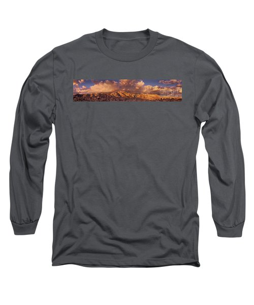 Long Sleeve T-Shirt featuring the photograph Summer Storm Clouds Over The Eastern Sierras California by Dave Welling