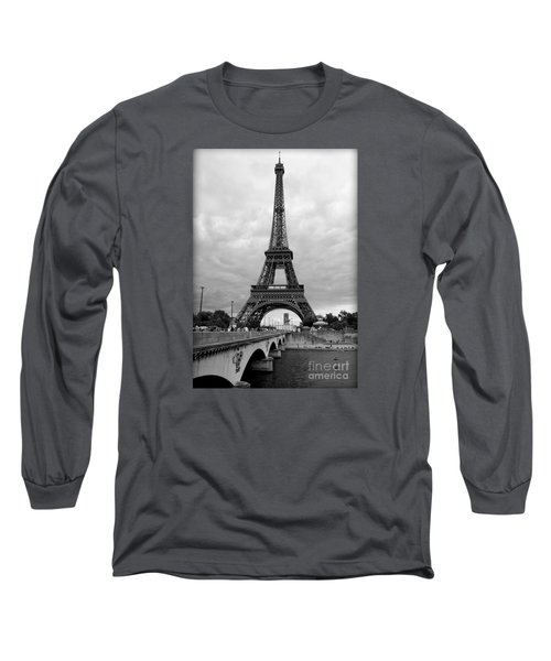 Summer Storm Over The Eiffel Tower Long Sleeve T-Shirt