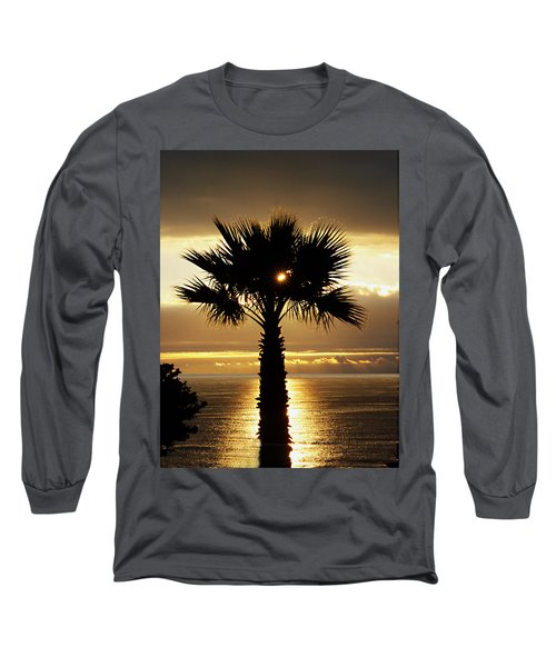 Sun And Palm And Sea Long Sleeve T-Shirt