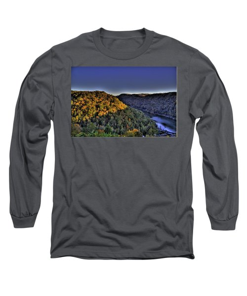 Sun On The Hills Long Sleeve T-Shirt by Jonny D