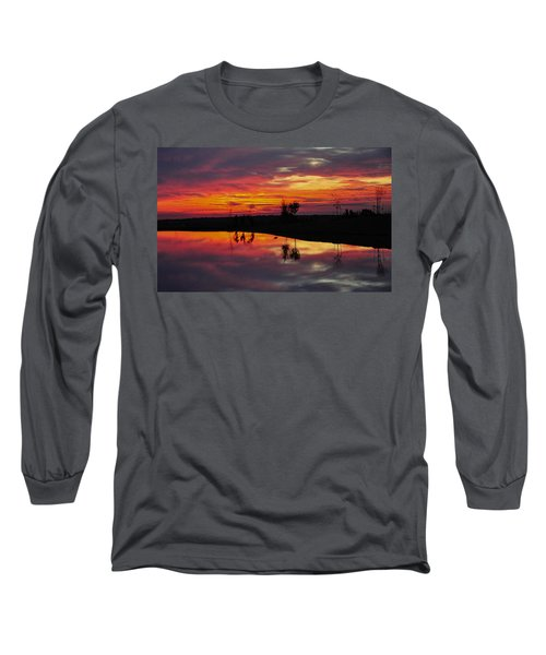 Sun Set At Cowen Creek Long Sleeve T-Shirt