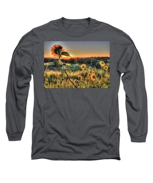Sunflower Sunrise 1 Long Sleeve T-Shirt by Diane Alexander