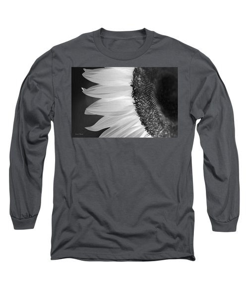 Sunflowers Beauty Black And White Long Sleeve T-Shirt by Sandi OReilly
