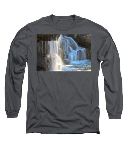 Sunlight On The Falls Long Sleeve T-Shirt by Deb Halloran