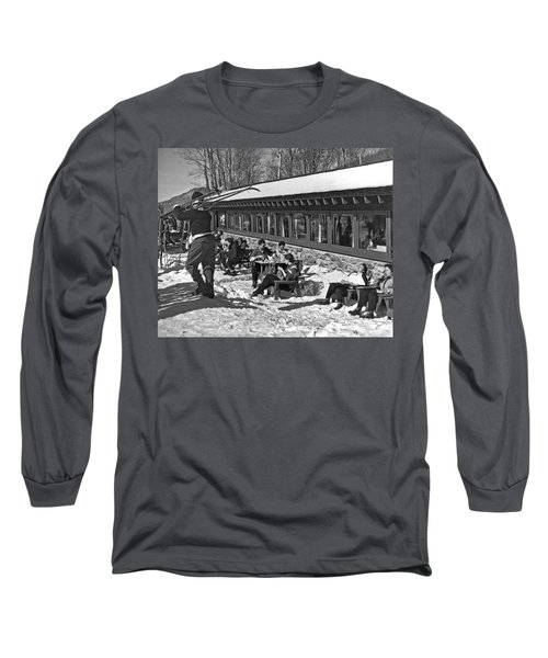 Sunny Day After Skiing Long Sleeve T-Shirt
