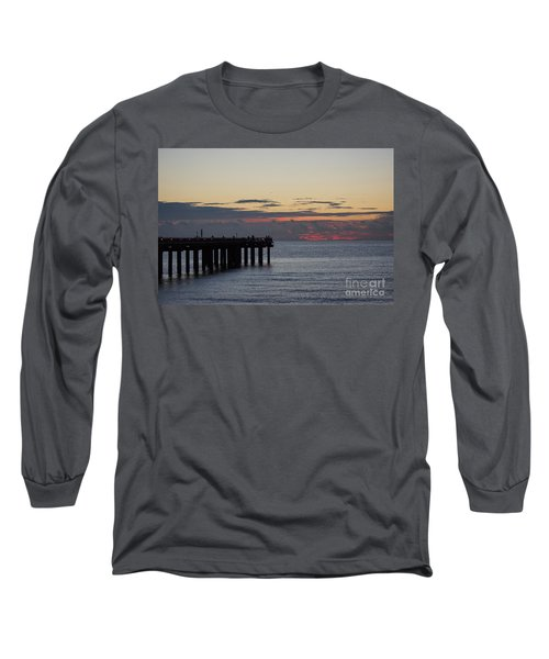 Long Sleeve T-Shirt featuring the photograph Sunny Isles Fishing Pier Sunrise by Rafael Salazar