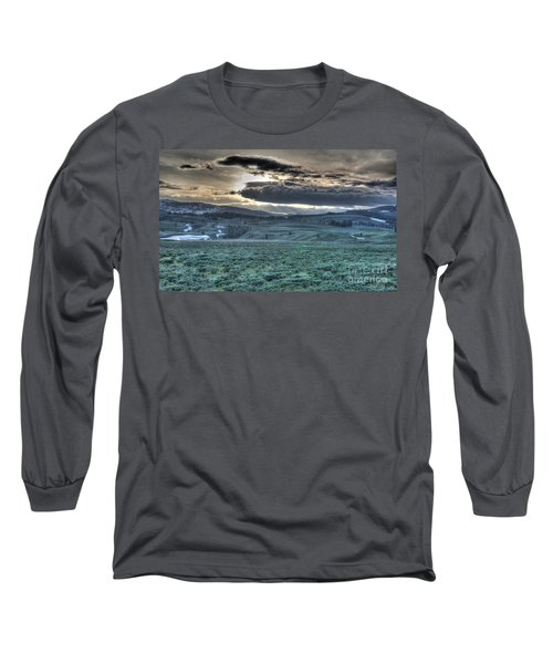 Long Sleeve T-Shirt featuring the photograph Sunrise At A Small Pond In Yellowstone by Bill Gabbert